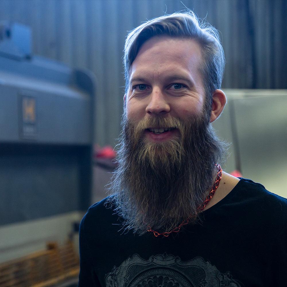 Peter Karlsson, en av ägarna till JNJ Industrimontage i Östersund